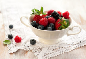 Raspberries, blueberries, strawberries and blackberries are in season now