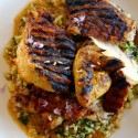 Brick chicken with couscous at Spoonbar h2hotel in Healdsburg