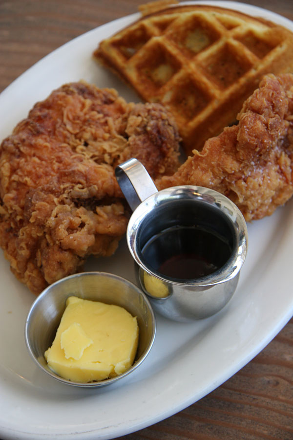 Fremont Diner Chicken and waffles in Sonoma, CA