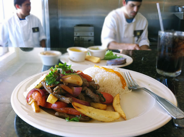 Lomo Saltado at Sazon Peruvian restaurant in Santa Rosa (Heather Irwin)