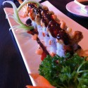 Dancing Eel roll with shrimp tempura, avocado and fried eel