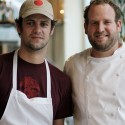 Lowell and Chef Daniel Kedan at Peter Lowell's