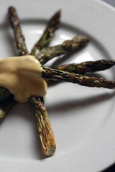 Roast Asparagus with Blender Hollandaise Recipe