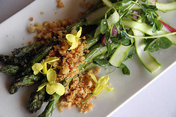 Asparagus Roasted and Shaved with breadcrumbs