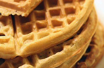 Bacon + Buttermilk Belgian Waffles Recipe