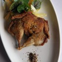 Crispy Quail with grapefruit salad at Petite Syrah