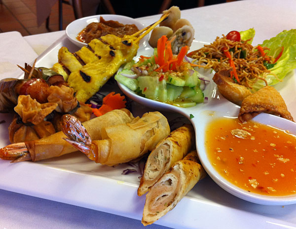 A parade of appetizers at Thai Time
