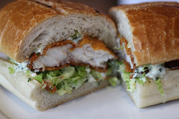 Catfish Po Boy at Sweet T's in Santa Rosa