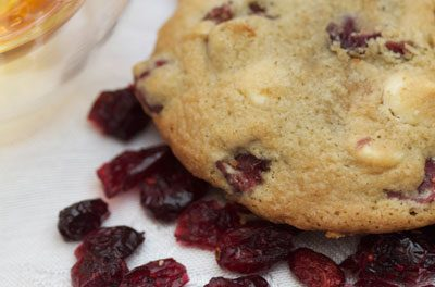 Tipsy Cranberry White Chocolate Almond Cookie Recipe
