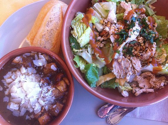Thai Chop salad and french onion soup at Panera Bread