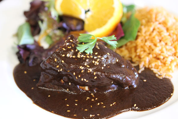 Mole at Agave Mexican Restaurant in Healdsburg (Heather Irwin, PD)
