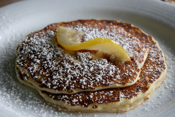 Sonoma's Big 3 Diner lemon pancakes