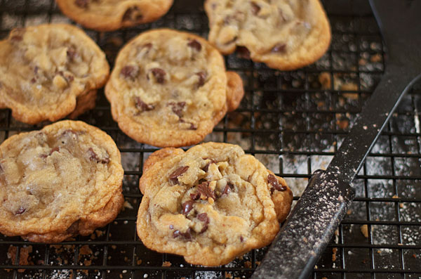 Salted Chocolate Chip Cookies ©heather irwin