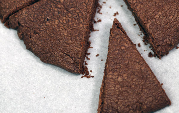 Dark Chocolate-Espresso Shortbread