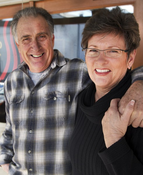 Al Hartman and Brenda Chatelain of The Smoked Olive in Petaluma.