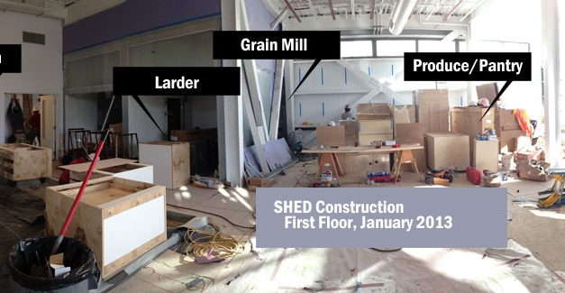 Healdsburg Shed construction report