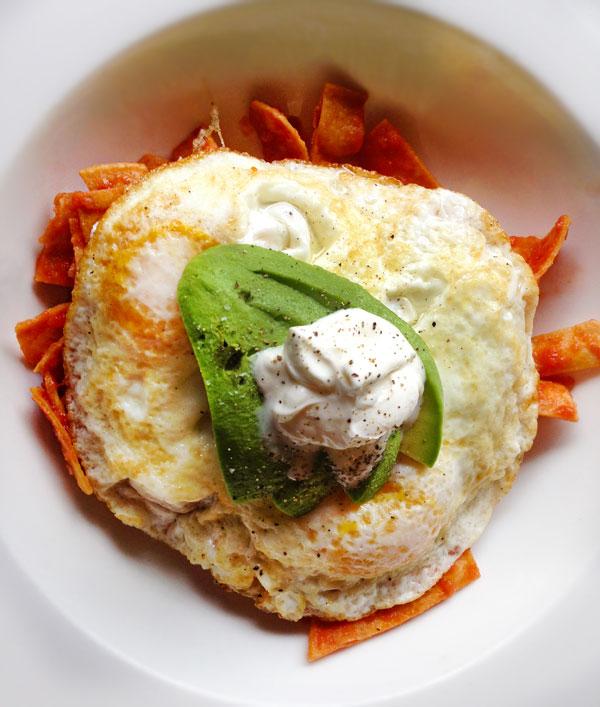 Chilaquiles breakfast at Viola Pastry Cafe in Santa Rosa, California