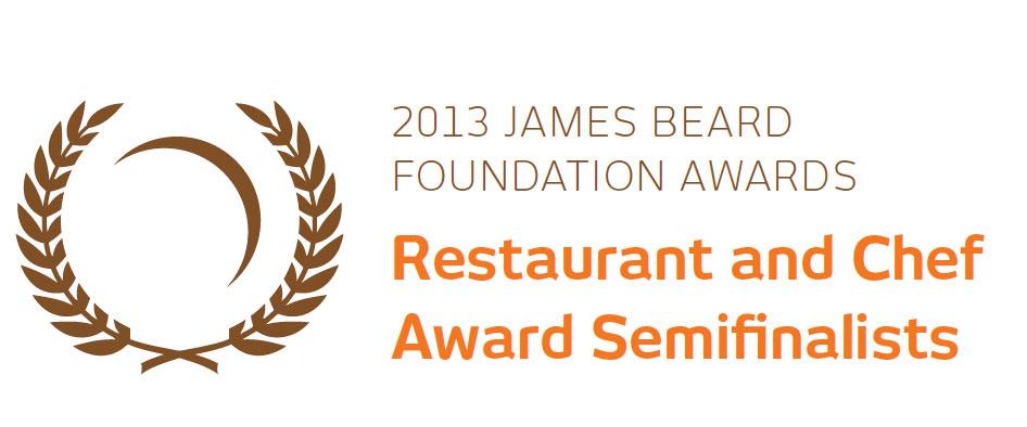 2013 James Beard Award Semi-Final Nominees announced