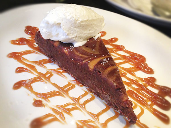 Chocolate Torte with Caramel Sauce at Speakeasy