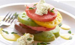 Tomato salad from the girl and the fig for Sonoma County Restaurant Week