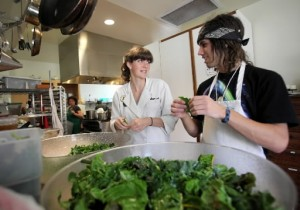 Students at the Ceres Project in Sebastopol. The teens will cook with Chef Duskie Estes at Zazu on April 13.
