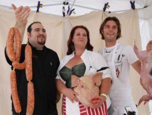 Berry Salinas and friends Jason Azevedo and Chris Hanson at the 2011 Handcar Regatta