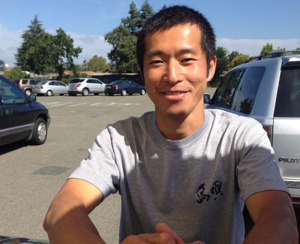 Takeshi Uchida, owner of the sushi burrito cart