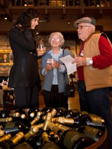 Jacque Alanis, left, Marie Moulia, and Jean Moulia during the Sonoma Magazine launch party at Buena Vista Winery, in Santa Rosa, Calif., on November 7, 2013. (Alvin Jornada / The Press Democrat)