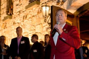 Jean-Charles Boisset, owner of Boisset Family Estates and Buena Vista Winery, during the Sonoma Magazine launch party at Buena Vista Winery, in Santa Rosa, Calif., on November 7, 2013. (Alvin Jornada / The Press Democrat)