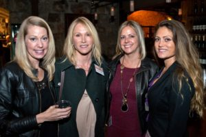 Amy Keohane, left, Alyson Douglas, Shannon Reiter, and Sarah Golightly during the Sonoma Magazine launch party at Buena Vista Winery, in Santa Rosa, Calif., on November 7, 2013. (Alvin Jornada / The Press Democrat)