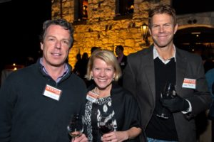 Tom Mainelli, left, Mary Bauman, and Greg Taylor during the Sonoma Magazine launch party at Buena Vista Winery, in Santa Rosa, Calif., on November 7, 2013. (Alvin Jornada / The Press Democrat)