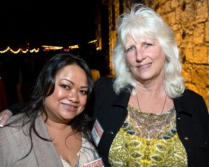 Chenda Hou, left, and Kris Browne during the Sonoma Magazine launch party at Buena Vista Winery, in Santa Rosa, Calif., on November 7, 2013. (Alvin Jornada / The Press Democrat)