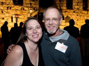 Susan and Chad Surmick during the Sonoma Magazine launch party at Buena Vista Winery, in Santa Rosa, Calif., on November 7, 2013. (Alvin Jornada / The Press Democrat)
