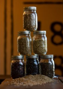 The Spirit Works distillery in Sebastopol uses whole grains for the mash, then add locally-sourced botanicals such as coriander, citrus, cardamom, and angelica for their gin recipe. (photo by John Burgess)