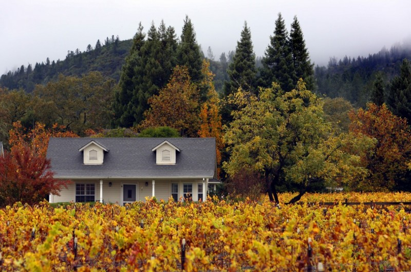 The guest cottage at Landmark Vineyard in the Sonoma Valley. (photo by John Burgess)