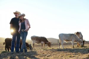 David and Kristine Beck at Twisted Horn Ranch in Bloomfield, California. (Photo by Erik Castro)