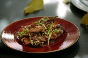 Charlie Palmer's pan roasted pheasant. (photo by Chris Hardy)