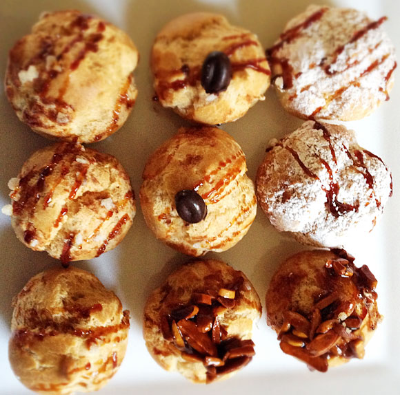Cream puffs from Ca'Momi Enoteca in Napa. Photo: Heather Irwin/BiteClubeats