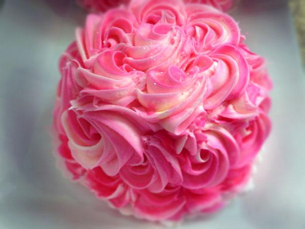 Rose cupcake at Sweet Cakes in Larkfield