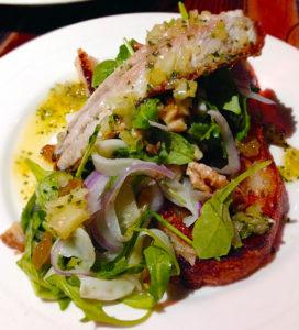 First of the season sardines with fennel salad. Photo Heather Irwin
