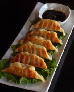 Gyoza at Formosa Bistro in Sebastopol on Wednesday, December 19, 2012. (Jeff Kan Lee/ The Press Democrat)
