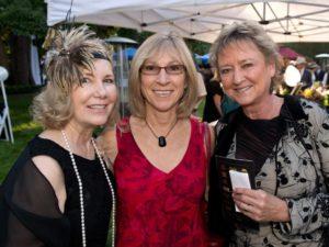 NAMI Sonoma County Executive Director Rosemary Milbrath, left, Terri Timms, and Vivian Brockway during the National Alliance on Mental Illness (NAMI) Sonoma County Gatsby Gala at the McDonald Mansion, in Santa Rosa, Calif., on September 21, 2013. (Alvin Jornada / The Press Democrat)