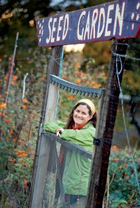 Sara McCamant, co-founder of the West County Community Seed Exchange, at the seed garden in Sebastopol.