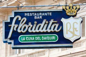 The Floridita bar in Cuba