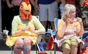 Spectators watch during the Petaluma Butter and Egg Days Parade in Petaluma. (Kent Porter / Press Democrat, file 2013)