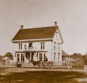 The original Marshall House in Healdsburg, 1870.