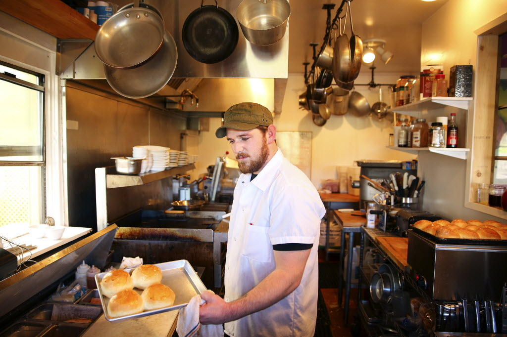 Preparing for Restaurant Week at Red's Apple Roadhouse Photo: Press Democrat
