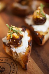 Bellwether Farms ricotta and local olive oil and crostini with Humboldt Fog chevre and figs are among Firefly Catering's farm-inspired specialties.