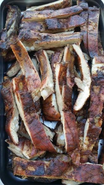 Ribs from Goodfellas BBQ in Santa Rosa.