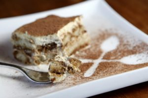 Homemade tiramisu at Risibisi Restaurant in Petaluma. (photo by Beth Schlanker)